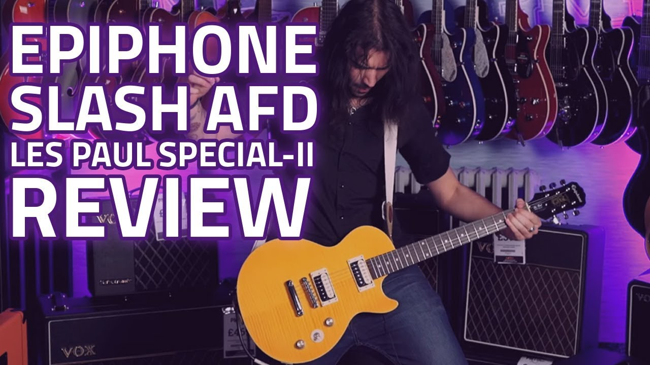 medium resolution of epiphone slash afd les paul special ii guitar outfit demo review