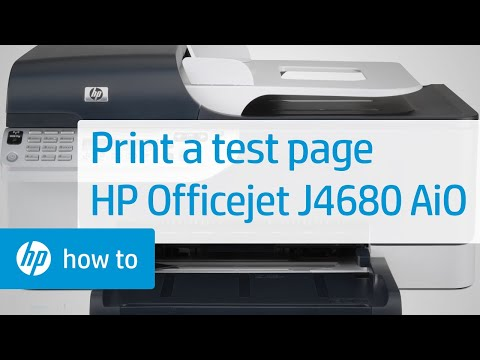 printing a test page hp officejet j4680 all in one printer hp rh youtube com HP Officejet J4500 User Guide HP Officejet J4680 Troubleshooting