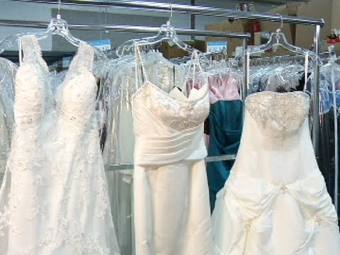 Find designer dresses for less at Goodwill Bridal Showcase  YouTube
