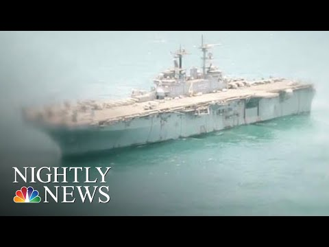 President Trump: U.S. Navy Ship Shot Down Iranian Drone Over Strait Of Hormuz | NBC Nightly News