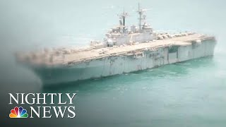 President Trump: U.S. Navy Ship Shot Down Iranian Drone Over Strait Of Hormuz | NBC Nightly News