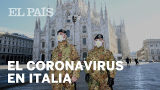 CORONAVIRUS en ITALIA: Calles vacías y supermercados desabastecidos