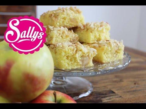 Apfelkuchen Mit Marzipan Und Mandelsplittern Apple Cake With