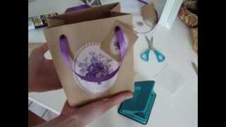 Делаем бумажный пакет своими руками. Упаковка для подарка.