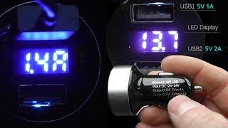 Зарядное устройство в авто с usb для телефона, планшета, видеорегистратора