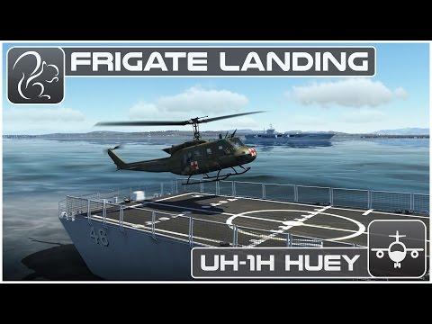 UH-1H Huey Frigate Landing (DCS World)