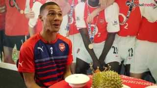 Arsenal stars fall for durian fruit prank!