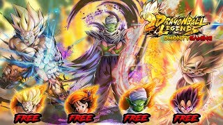 LEGENDS GIVES YOU 4 SPARKING UNITS BY JUST RANKING UP!? | DRAGON BALL LEGENDS