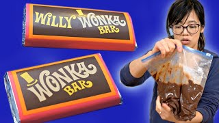 How to Make a WONKA Bar - 50-year old Willy Wonka Chocolate Making Kit