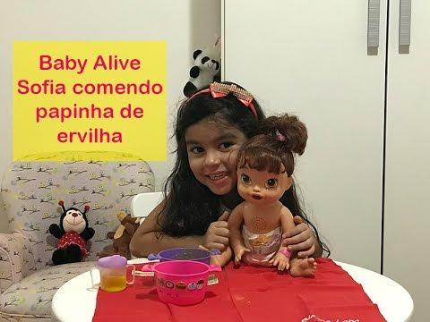 b60a91593e Baby Alive Sofia comendo papinha de ervilha! - YouTube