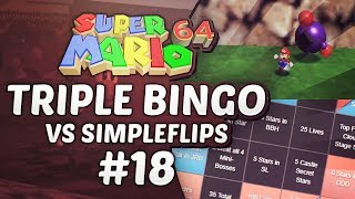 Super Mario 64 Triple Bingo vs SimpleFlips #18