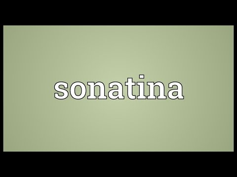 Sonatina Meaning