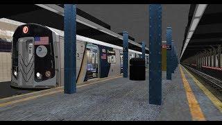 OpenBVE HD: R160A-B Cuomo F train from Coney Island to Jamaica 179th Street
