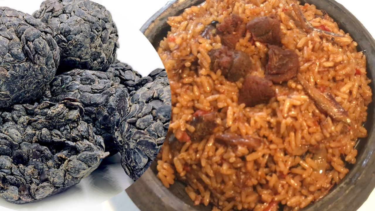 How To Prepare Dawadawa (African locust beans) Jollof Rice || Village style cooking. Healthy eating