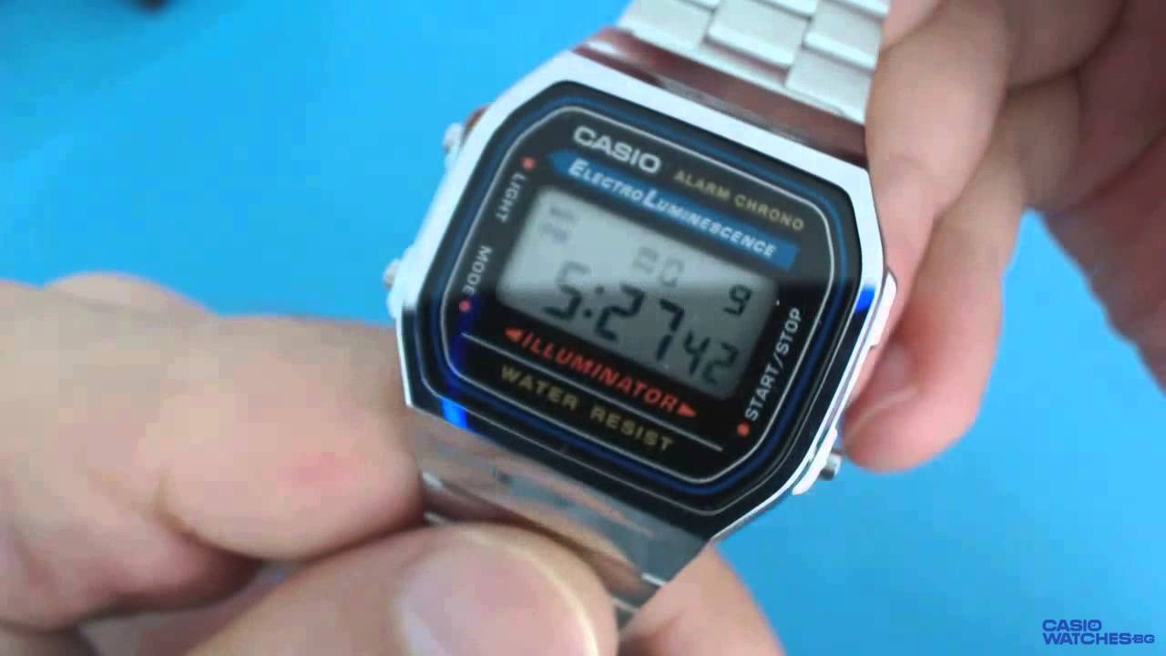 f4f5df796711 Casio A168WA-1YES - YouTube