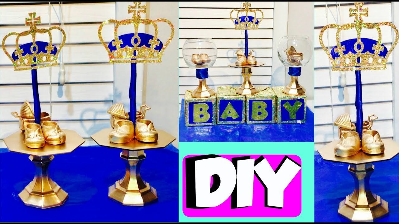 Inexpensive Diy Royal Prince Party Centerpieces Diy Baby Shower