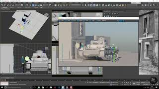 Tank timelapse - Render and sculpt proof