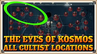 Assassin's Creed Odyssey All EYES OF KOSMOS Cultist Locations - One Head Down Trophy / Achievement