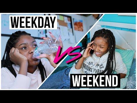 Weekday you VS Weekend you
