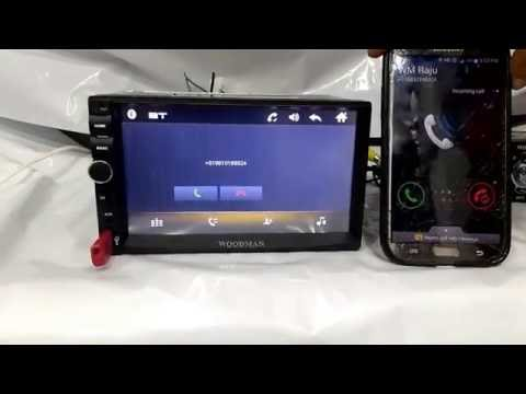 Woodman Doubledin With Bluetooth & Usb  Full Hd Car Media Player Demo