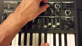 MicroBrute pseudo noise from a triangle