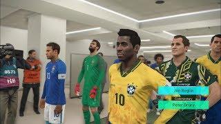 Brazil LEGEND vs Brazil 2018 I PES 2018 Fantasy Gameplay