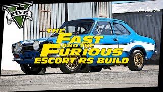 FAST & FURIOUS 6 FORD ESCORT RS MOVIE CAR BUILD TUTORIAL: GTA V ONLINE (RETINUE)