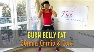 Video 30 Mins Cardio & Core Interval (Burn Belly Fat!) - Beginner & Advance download MP3, 3GP, MP4, WEBM, AVI, FLV Juli 2018