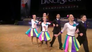 Pacific Ballroom Dance Junior Premier Latin Medley Final 2016