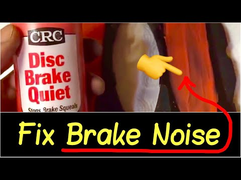 ✅Fix Brake Noise Squeal Review   🗜Changing Brake Pads & Add Brake Quiet to Stop Brake Squeaking