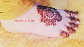 Simple and easy beautiful leg mehndi design 2019 |Anjum Faruk Art |