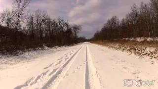 Fat Biking the Panhandle Trail, McDonald to Midway, Jan. 2014