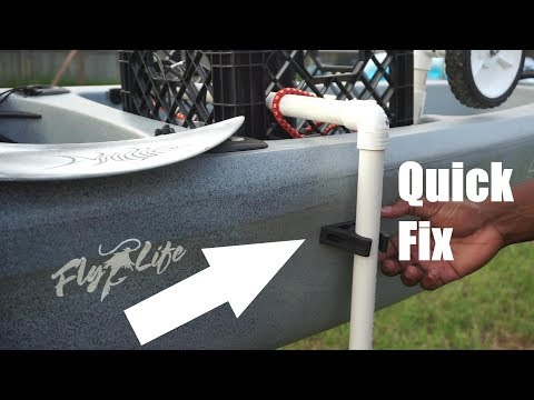 Quick $10 Kayak Transducer Arm Fix - WORKS ON ANY KAYAK!