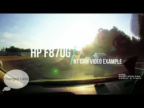 HP F870g DASHCAM Review And Installation Front/back Cameras