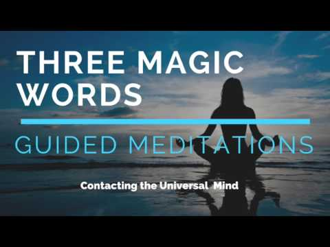 HOW TO MAKE CONTACT WITH THE UNIVERSAL MIND | US ANDERSEN | THREE MAGIC WORDS