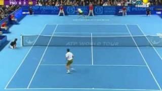 Jo Wilfried Tsonga & Novak Djokovic Atp Marseille 2009 (ITA)