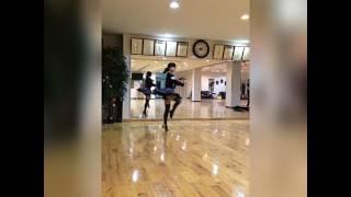 まだ社交ダンス始めたばかりの時の動画です。 バレエのような事をしてあ...