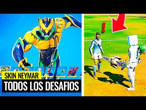 Cómo desbloquear todas las recompensas de Neymar Jr en Fortnite (Habla con un personaje de futbol)