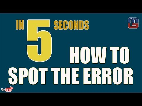 HOW TO SPOT THE ERROR IN 5 SECONDS | ENGLISH | SBI PO | SSC | BOB | NIACL | OTHER COMPETITIVE EXAMS
