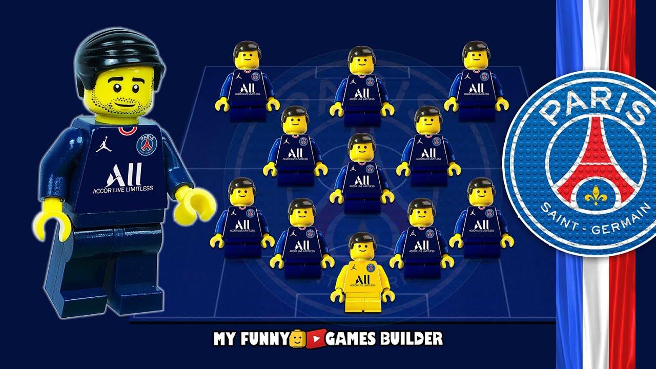 Download PSG Dream Team 2021/22 • Paris Saint-Germain in Lego Football Goals Collection