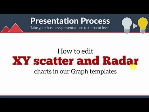 Custom Your Data Driven XY Scatter and Radar Charts in PowerPoint Graphs Pack