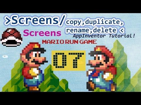 Mario run Game for App Inventor   Copy, duplicate, delete, rename screens part 07