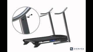 assembling the domyos tc 4 treadmill