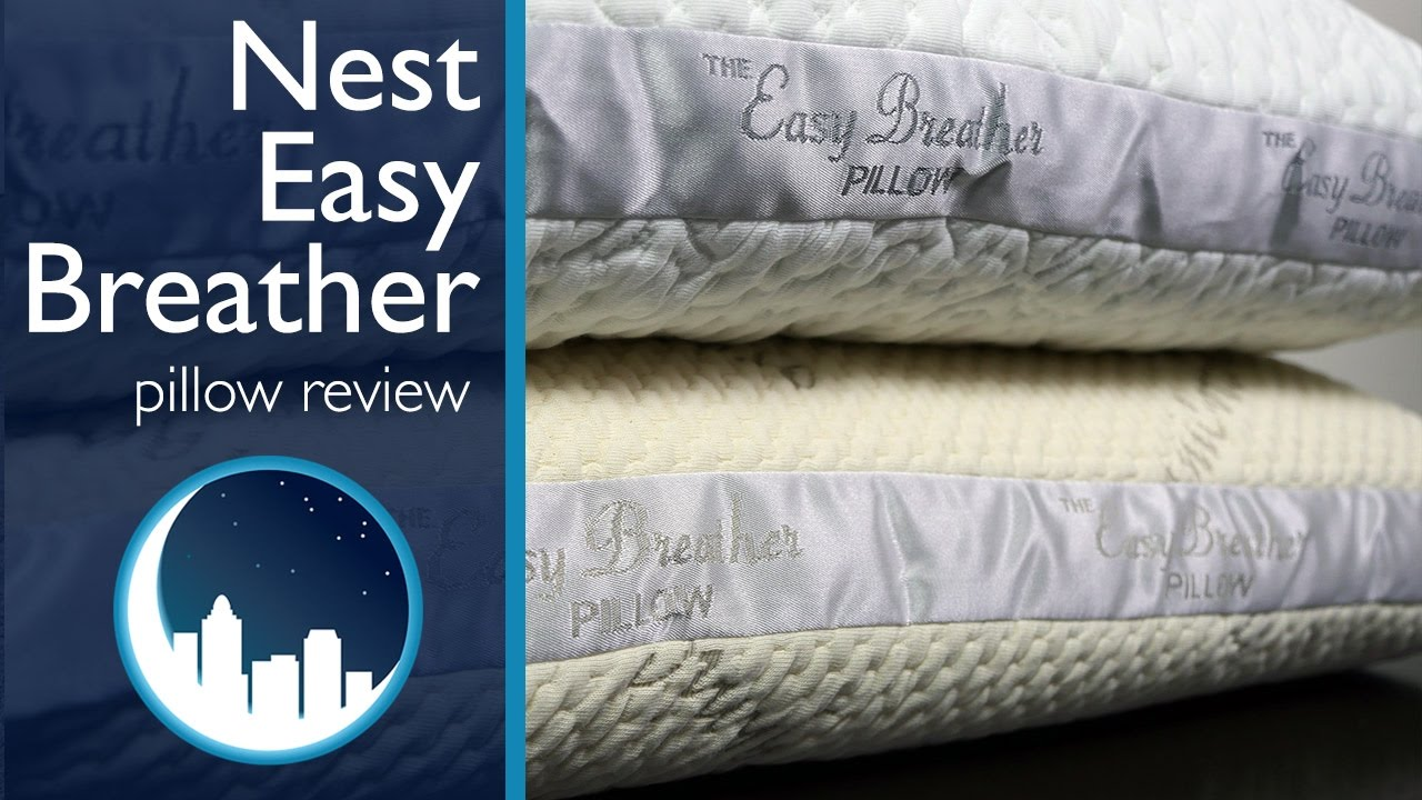 Watch The Nest Bedding Easy Breather Side Sleeper Pillow helps me sleep better video