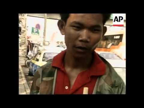 THAILAND: BANGKOK: ELEPHANT HANDLERS STAGE PROTEST  (V)