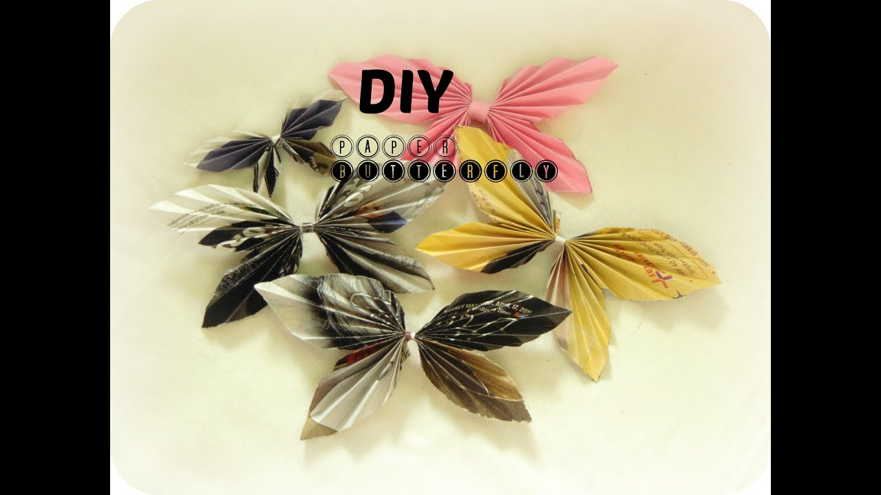 Diy paper craft how to make paper butterfly in 2 min easy diy paper craft how to make paper butterfly in 2 min easy simple homewall decor wall hanging youtube amipublicfo Image collections