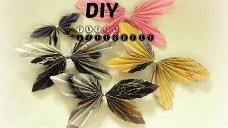 DIY-PAPER CRAFT: How To Make Paper Butterfly in 2 min easy & simple home/wall decor  -WALL HANGING