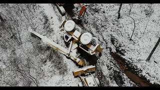 Recovering a tipped crane