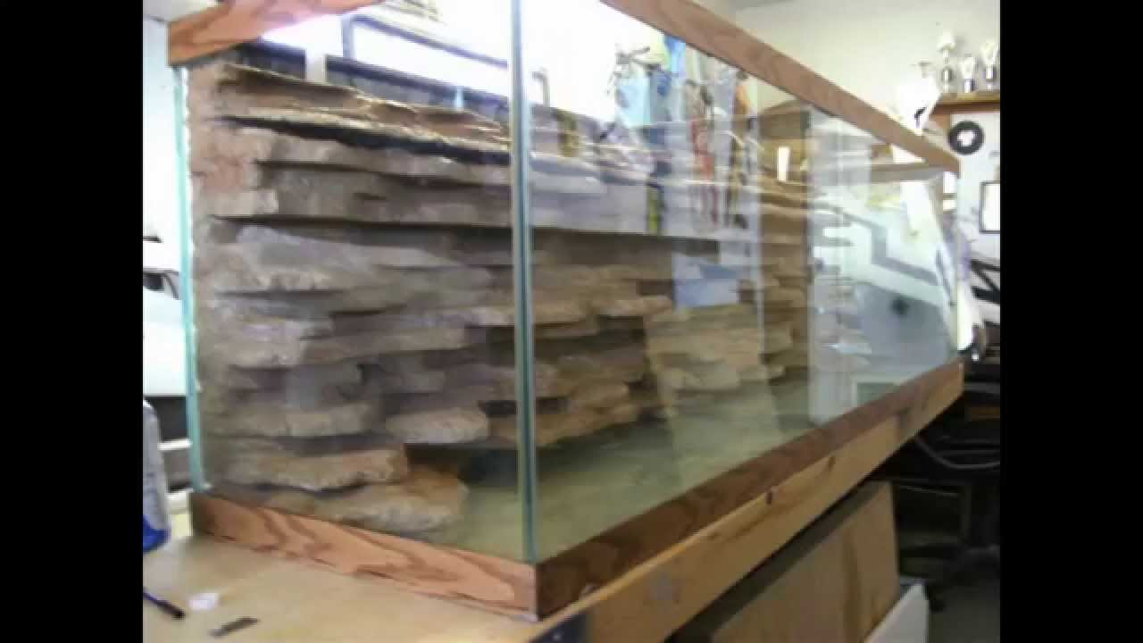 DIY aquarium background - YouTube