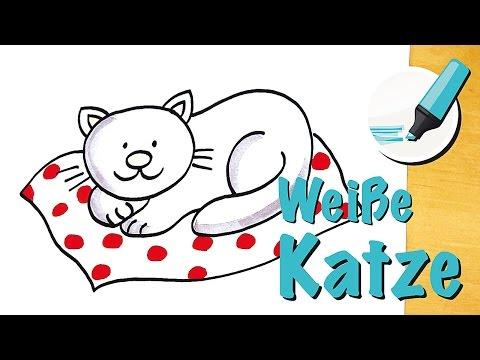 Katze zeichnen lernen: Die Flauschige - How to draw a Cat (Cartoon)